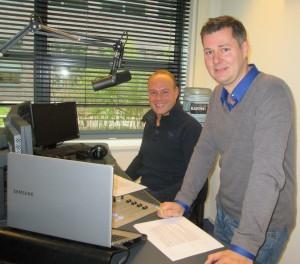 Foto van Glenn van der Burg en Ron Lemmens van de eerste uitzending van People Power