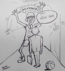 Cartoon - Ben Tiggelaar: Managers moeten vooral niet in de weg lopen